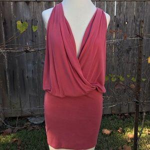 Lush Red Clay Jersey Mini Dress